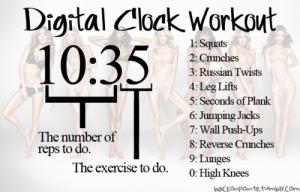 football clock workout