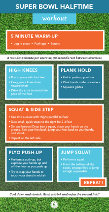 football halftime workouts