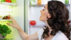 looking in fridge